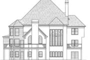 Colonial Style House Plan - 5 Beds 5.5 Baths 4480 Sq/Ft Plan #119-121 Exterior - Rear Elevation