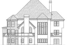 Colonial Exterior - Rear Elevation Plan #119-121