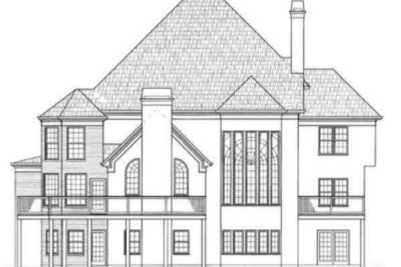 Colonial Exterior - Rear Elevation Plan #119-121 - Houseplans.com