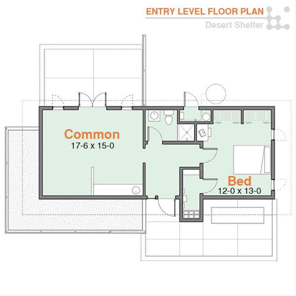 Modern Floor Plan - Main Floor Plan Plan #556-1