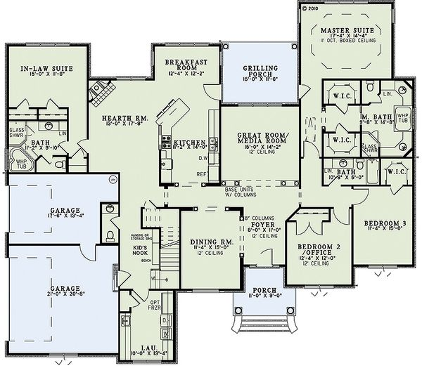 European Floor Plan - Main Floor Plan #17-2474