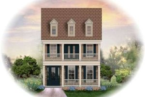 Colonial Exterior - Front Elevation Plan #81-1369