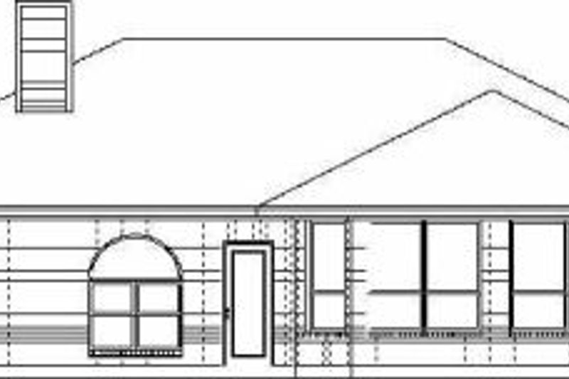 Traditional Exterior - Rear Elevation Plan #84-117 - Houseplans.com