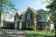Colonial Style House Plan - 4 Beds 3.5 Baths 3470 Sq/Ft Plan #70-519 Exterior - Front Elevation