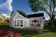 Craftsman Style House Plan - 2 Beds 2 Baths 1514 Sq/Ft Plan #70-1263 Exterior - Rear Elevation