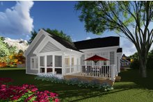 Dream House Plan - Craftsman Exterior - Rear Elevation Plan #70-1263