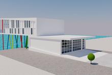 Contemporary Exterior - Rear Elevation Plan #542-21