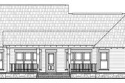 Craftsman Style House Plan - 3 Beds 2 Baths 1800 Sq/Ft Plan #21-279 Exterior - Rear Elevation