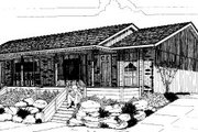 Ranch Style House Plan - 2 Beds 1 Baths 1800 Sq/Ft Plan #303-172 Exterior - Front Elevation