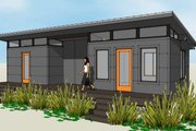 Modern Style House Plan - 2 Beds 1 Baths 684 Sq/Ft Plan #449-20 Exterior - Front Elevation