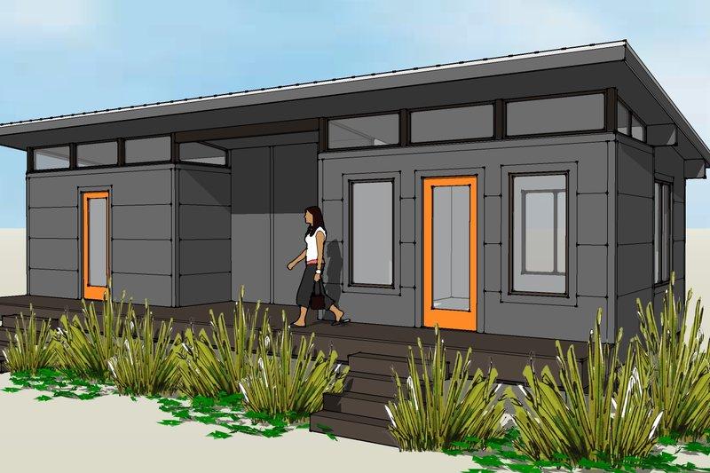 Modern Style House Plan - 2 Beds 1 Baths 684 Sq/Ft Plan #449-20