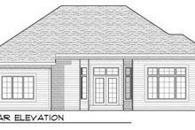 Home Plan - Traditional Exterior - Rear Elevation Plan #70-913