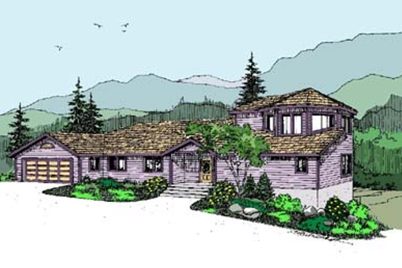 Modern Exterior - Front Elevation Plan #60-503