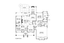Craftsman Floor Plan - Main Floor Plan Plan #929-1043
