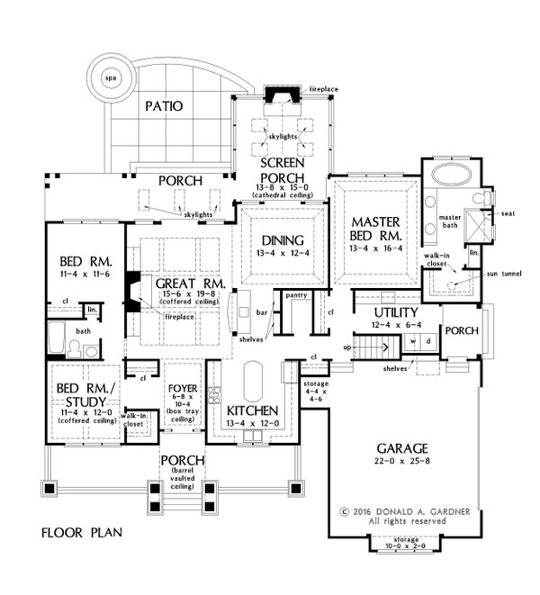 Craftsman Floor Plan - Main Floor Plan Plan #929-1043