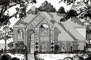 European Style House Plan - 4 Beds 2.5 Baths 2766 Sq/Ft Plan #62-145 Exterior - Front Elevation