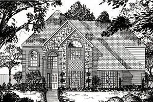 European Exterior - Front Elevation Plan #62-145