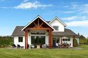 Farmhouse Style House Plan - 3 Beds 2.5 Baths 2878 Sq/Ft Plan #1070-10 Exterior - Rear Elevation
