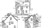 Traditional Style House Plan - 3 Beds 2.5 Baths 1645 Sq/Ft Plan #17-2033 Exterior - Rear Elevation