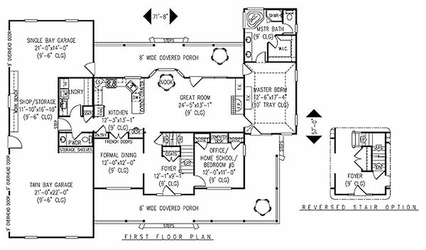Farmhouse Floor Plan - Main Floor Plan Plan #11-124