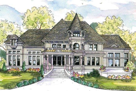 Victorian Exterior - Front Elevation Plan #124-559