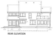 Contemporary Style House Plan - 2 Beds 2 Baths 1923 Sq/Ft Plan #118-114 Exterior - Rear Elevation