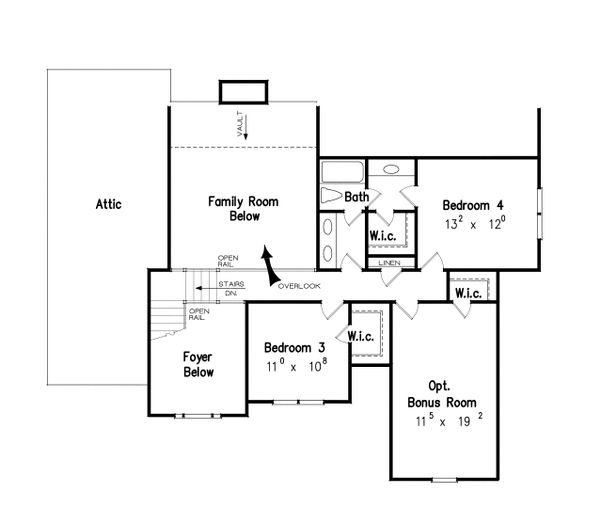 Country Floor Plan - Upper Floor Plan Plan #927-8