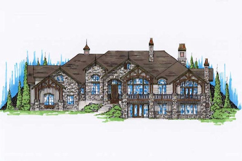 Home Plan - European Exterior - Front Elevation Plan #5-429