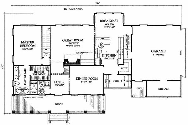 Farmhouse Floor Plan - Main Floor Plan #137-122