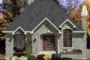 European Style House Plan - 3 Beds 1 Baths 1008 Sq/Ft Plan #138-306