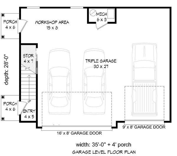 Country Floor Plan - Main Floor Plan #932-16