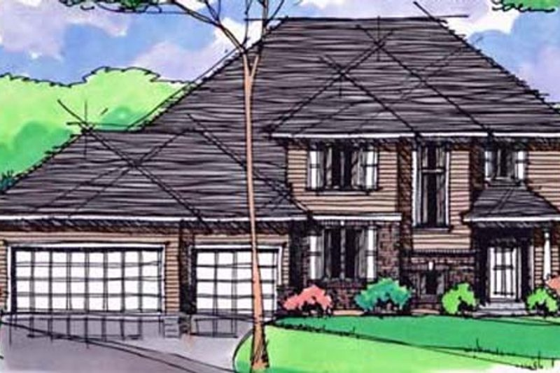 Traditional Exterior - Front Elevation Plan #51-402 - Houseplans.com