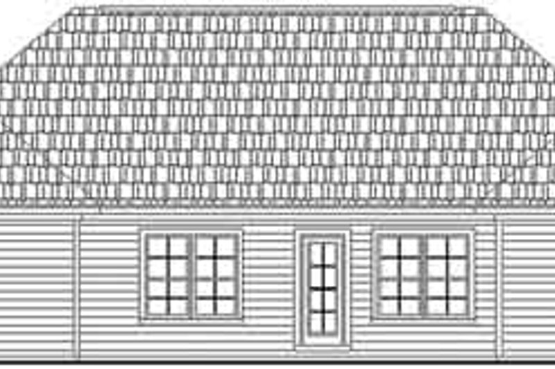 Traditional Exterior - Rear Elevation Plan #21-161 - Houseplans.com