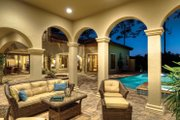 Mediterranean Style House Plan - 4 Beds 5 Baths 3777 Sq/Ft Plan #930-21 Exterior - Outdoor Living