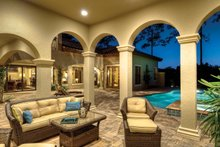 Home Plan - Mediterranean Exterior - Outdoor Living Plan #930-21