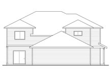 House Plan Design - Country Exterior - Rear Elevation Plan #124-1077