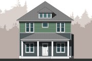 Traditional Style House Plan - 4 Beds 2.5 Baths 2500 Sq/Ft Plan #461-61 Exterior - Front Elevation