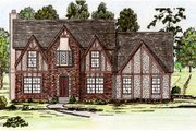 Tudor Style House Plan - 4 Beds 2.5 Baths 2628 Sq/Ft Plan #405-111 Exterior - Front Elevation