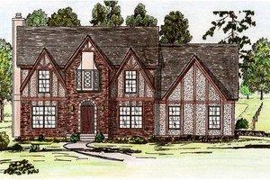 Tudor Exterior - Front Elevation Plan #405-111