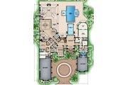 Mediterranean Style House Plan - 5 Beds 7.5 Baths 13245 Sq/Ft Plan #27-549 Floor Plan - Main Floor Plan