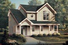 Dream House Plan - European Exterior - Front Elevation Plan #57-186
