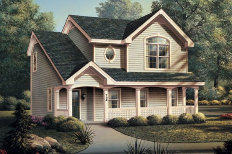 House Plan Design - European Exterior - Front Elevation Plan #57-186