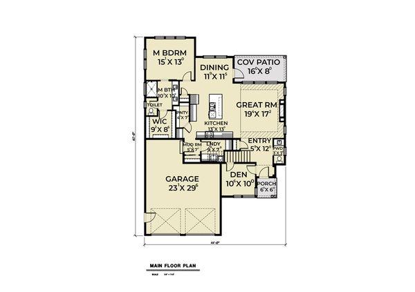 Home Plan - Contemporary Floor Plan - Main Floor Plan #1070-73