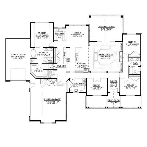 Farmhouse Floor Plan - Main Floor Plan #1064-116