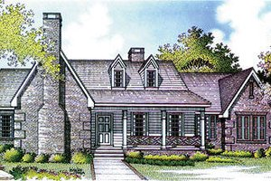 Southern Exterior - Front Elevation Plan #45-282