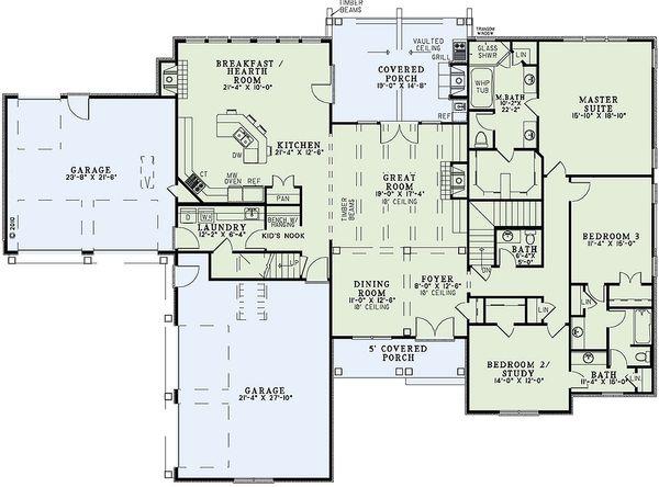 European Floor Plan - Main Floor Plan Plan #17-2439