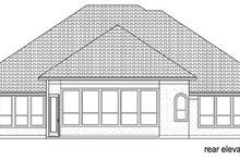 House Design - Mediterranean Exterior - Rear Elevation Plan #84-529