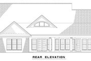 Traditional Style House Plan - 3 Beds 2 Baths 1723 Sq/Ft Plan #17-1175 Exterior - Rear Elevation
