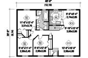Classical Style House Plan - 3 Beds 1 Baths 1200 Sq/Ft Plan #25-4819 Floor Plan - Main Floor Plan