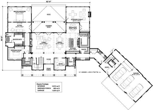 Country Floor Plan - Main Floor Plan #928-307